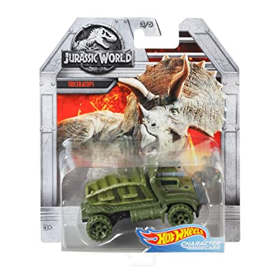 Hot Wheels Jurassic World Triceratops Vehicle: Toys & Games
