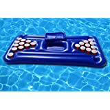 FloatGoat Inflatable Beer Pong Table. Pool Pong Lounger with drinks holder