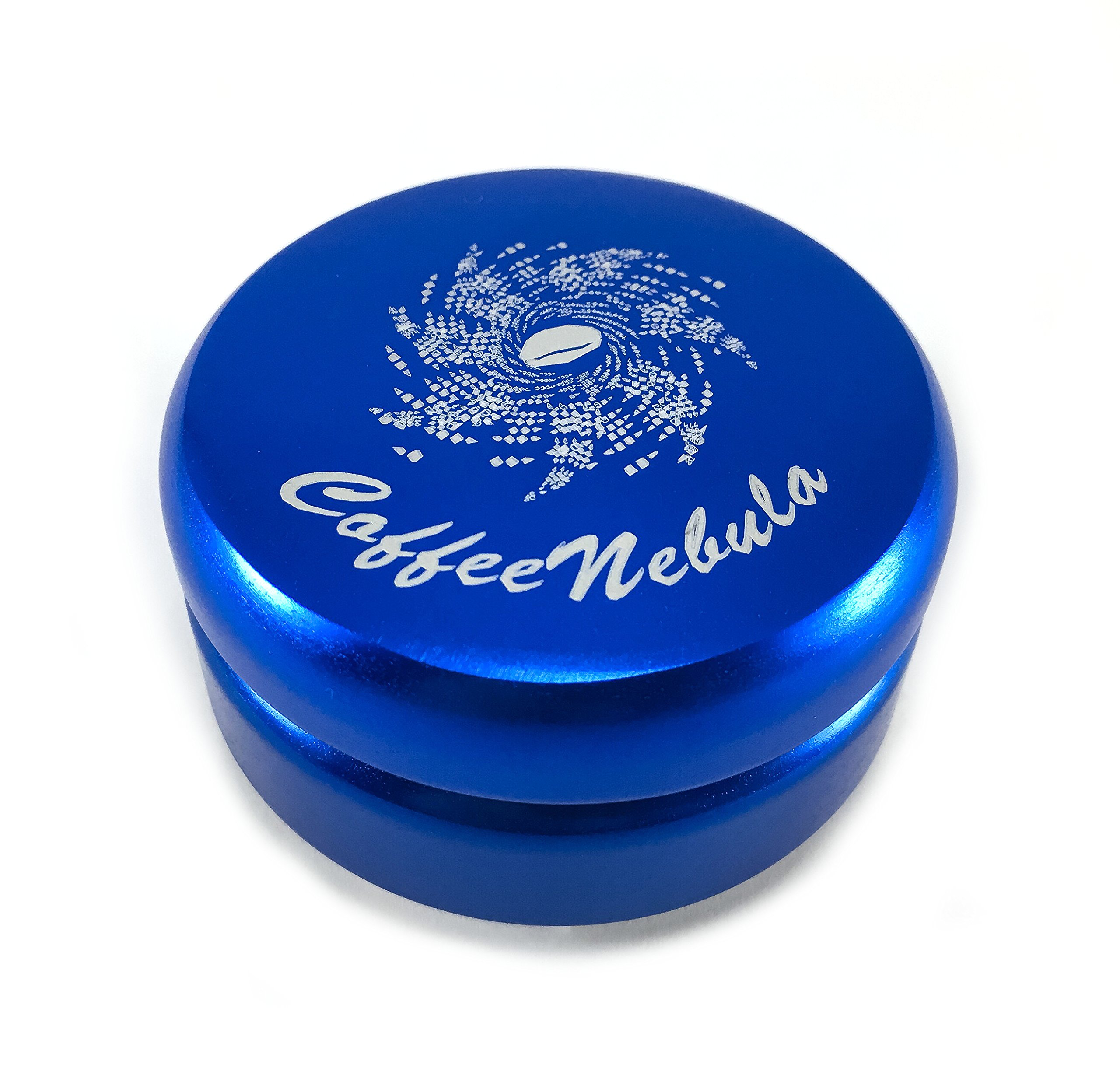 Coffee Distributor/Leveler Tool – for 58mm Espresso Portafilters – EVENLY DISTRIBUTES COFFEE GROUNDS – Provides Proper Tamping - ADJUSTABLE (58mm, Blue) by Coffee Nebula