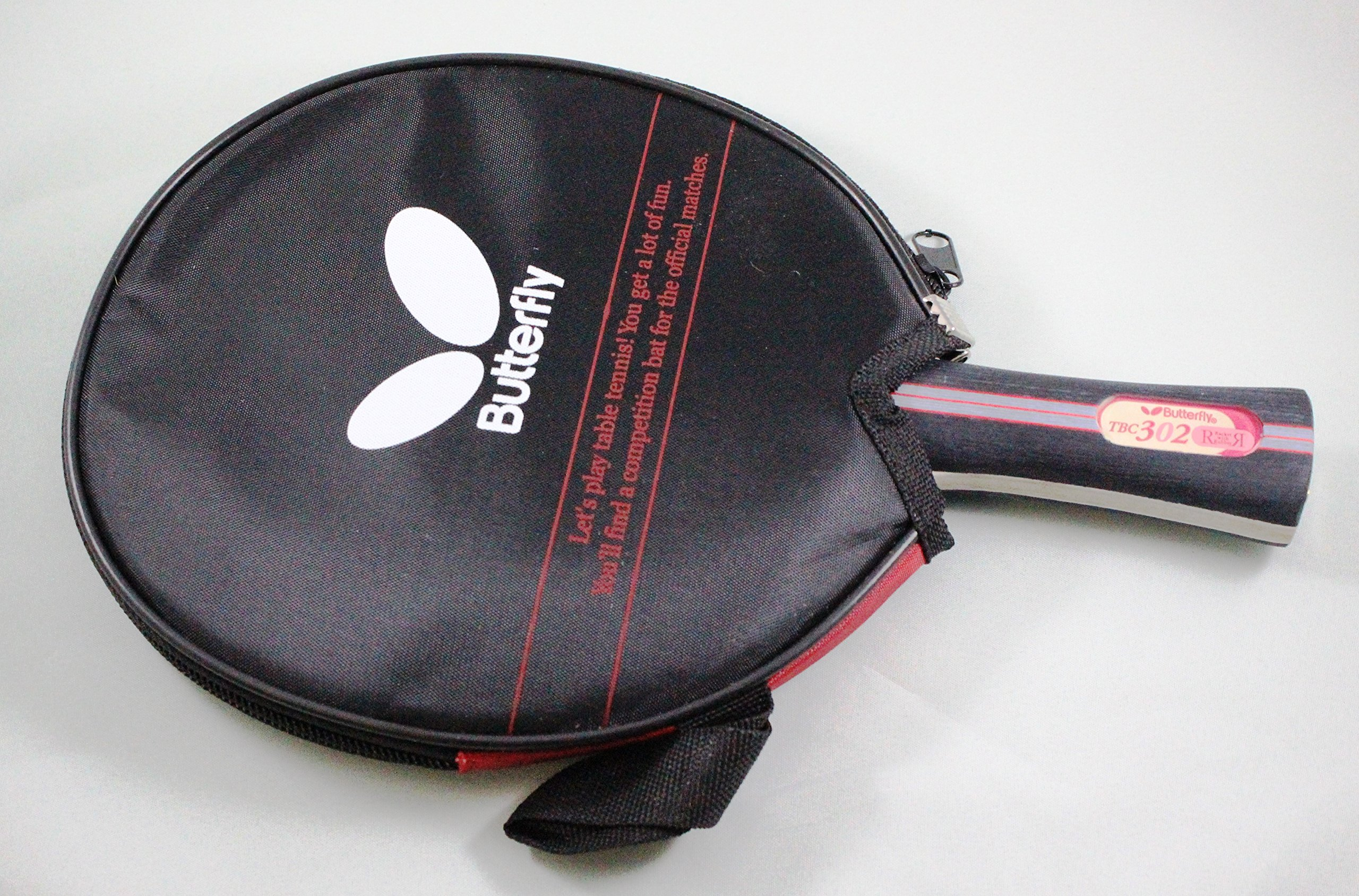 Butterfly 302 Table Tennis Racket Set - 1 Ping Pong Paddle – 1 Ping Pong Paddle Case - Gift Box - ITTF Approved
