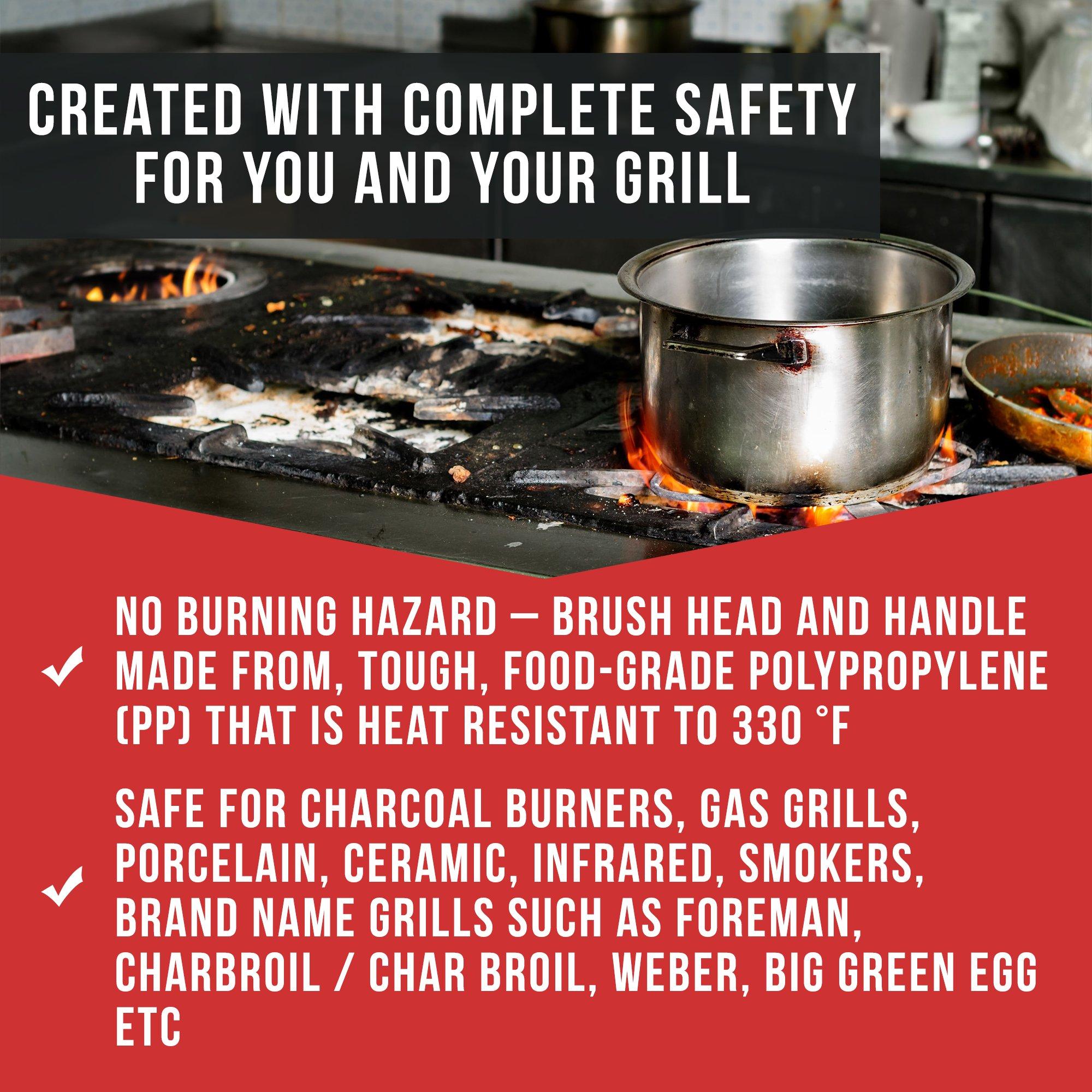 Chef Remi BBQ Grillbüste - Lebenslange Ersatzgarantie - Best bewertetes BBQ Zubehör für den Grill oder den BBQ - Grillzubehör oder Grillwerkzeug - Geschenk für den Mann, Vater, Onkel, Bruder etc.
