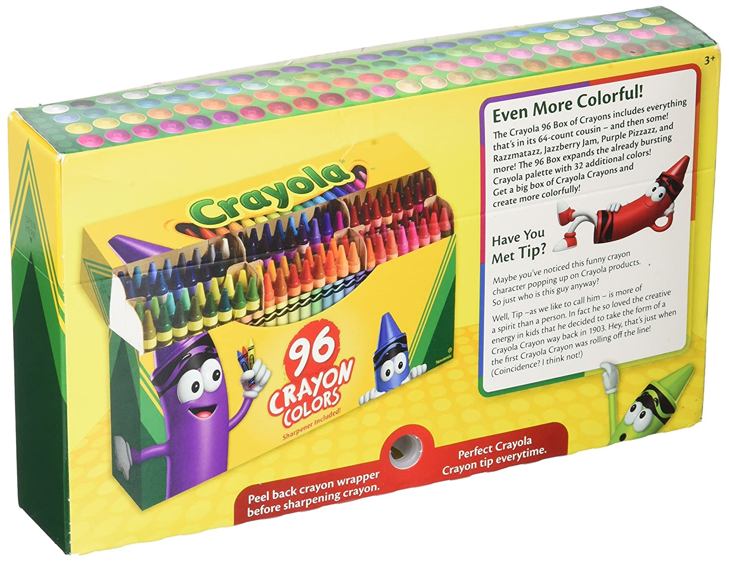 amazon com crayola crayons sharpener included 96 colors pack of