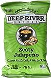 Deep River Snacks Kettle Chips, Zesty Jalapeno, 24 Count