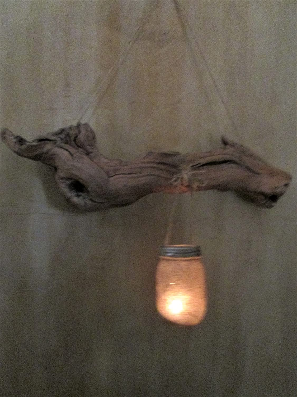 Amazoncom Driftwood Wall Art Driftwood Candle Holder Mason Jar