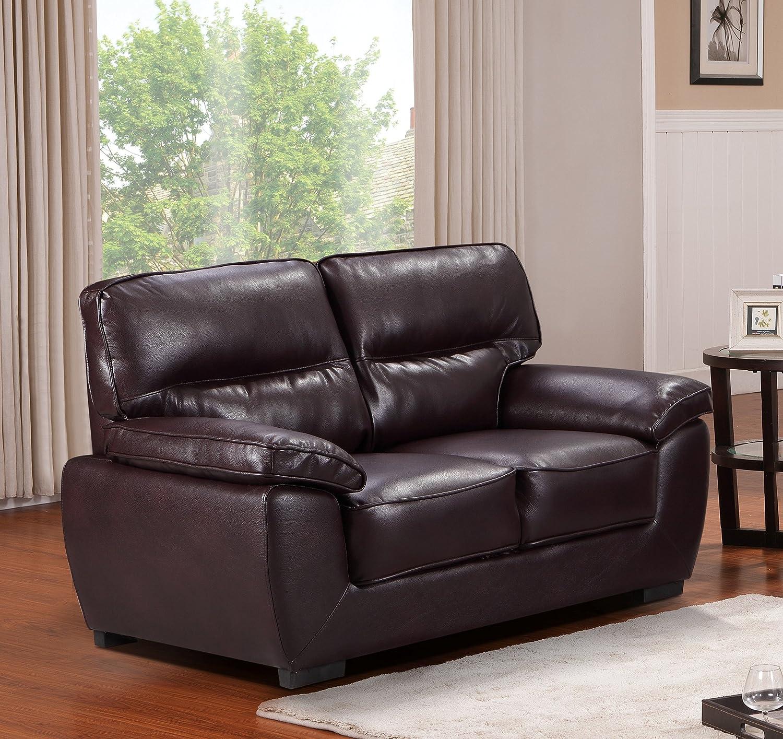 SC Furniture Ltd Burgundy - Sofás de Piel de Alta Calidad, 3 ...