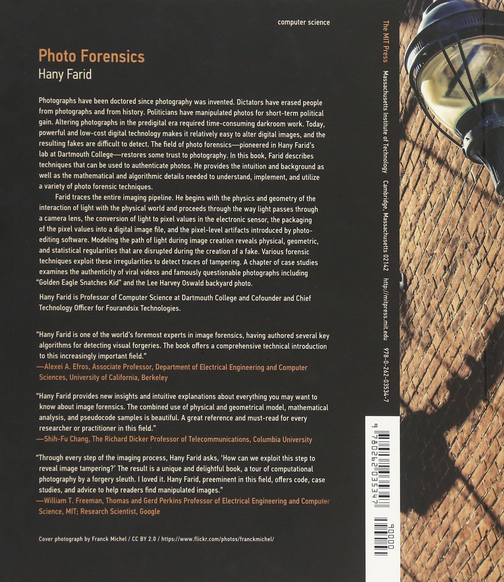 photo forensics mit press hany farid 9780262035347 amazon com