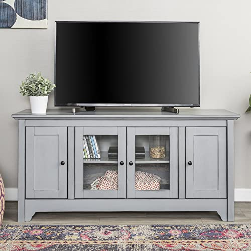 New 52 Inch Wide Television Stand in Antique Grey Finish