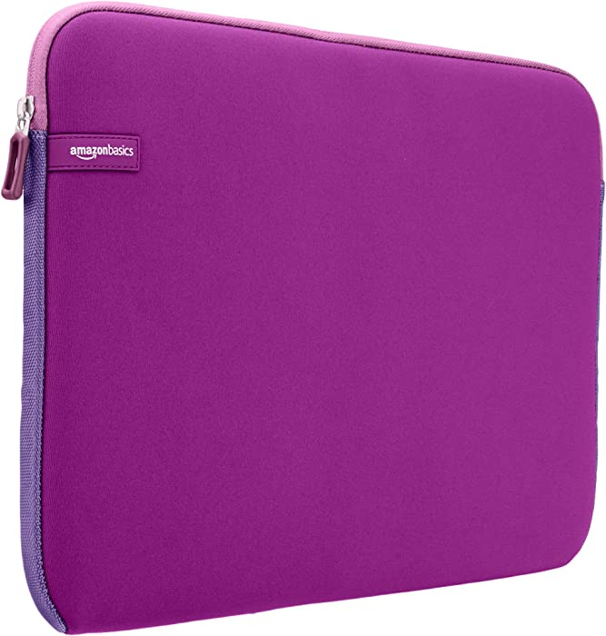 AmazonBasics 15 to 15.6-Inch Laptop Sleeve - Purple