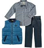 Calvin Klein Baby Boys 3 Pieces Vest Set-Shirt