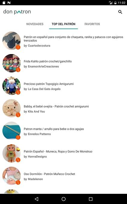 Amazon.com: donpatron - Patrones punto: Appstore for Android