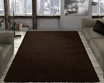Amazon Com Ottomanson Shag Collection Area Rug 3 3 X 4 7 Brown