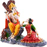 AMFLY Present Radha Krishna Statue Idol Made of Resin (Mesurment: Length: 5.5, Wdith: 9.5, Height: 9 (Inch)
