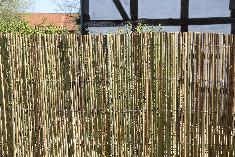Amazon 3m x 1 5m Bambusmatte Bambus Sichtschutzmatte Zaun