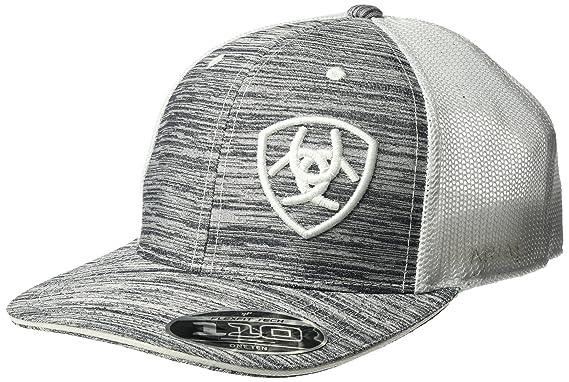 b2f8bc45b4b3c Ariat Men s White Heather Offset Logo Cap
