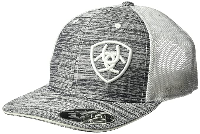 075cba0df52 Ariat Men s White Heather Offset Logo Cap