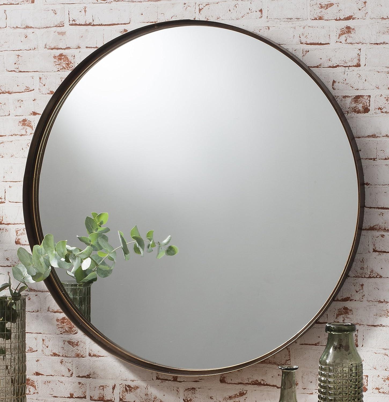 Zaragoza Angled Frame Round Feature Wall Modern Mirror 28 71cm