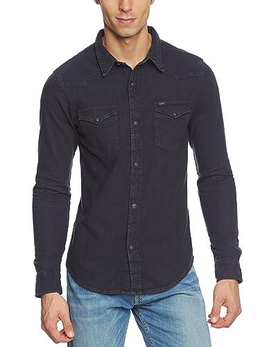 Lee Herren Slim Fit Freizeit Hemd Western Shirt