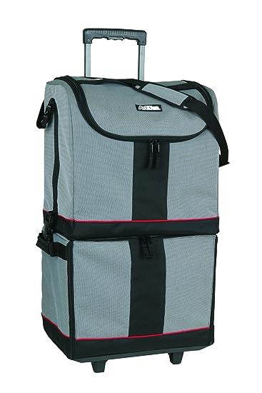 Great ArtBin Tote Express, Black/Gray Rolling Art Craft Storage Bag,6922SA