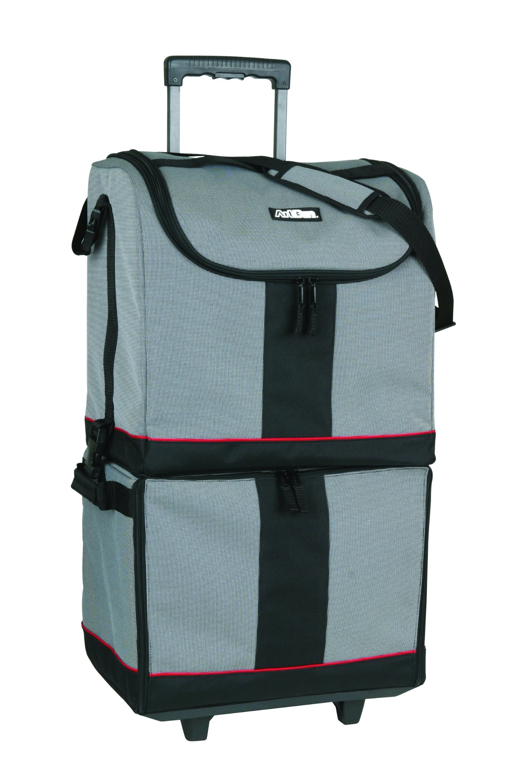 artbin tote express black gray rolling art craft storage bag 6922sa ebay. Black Bedroom Furniture Sets. Home Design Ideas