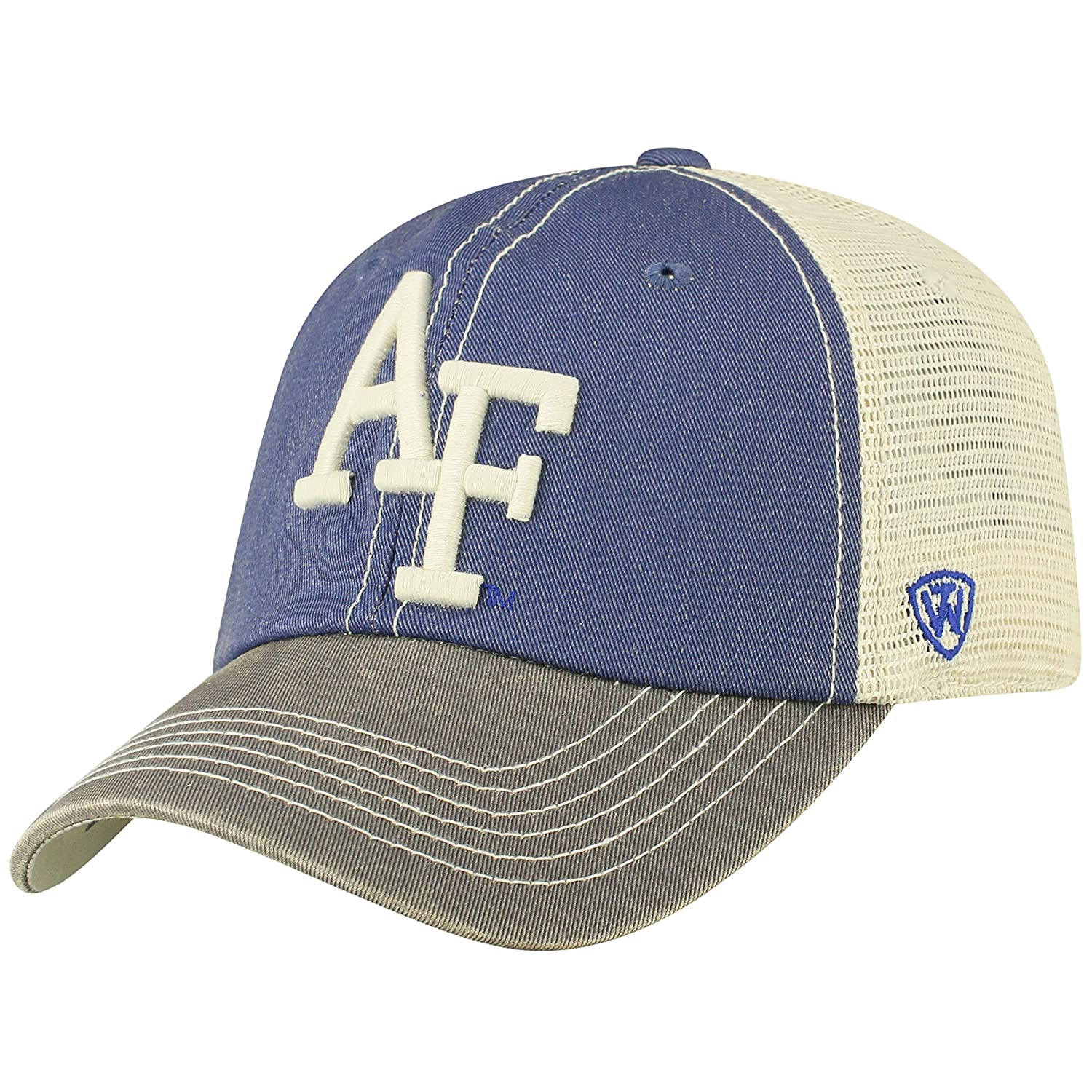 half off 42b68 21438 Amazon.com   Top of the World Adult Unisex s Offroad Snapback Mesh Back Adjustable  Hat, Air Force Falcons Royal, One Size   Clothing