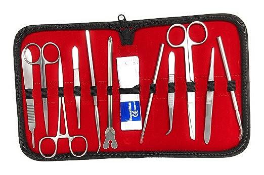 Kit de disección Matis - Herramientas de acero inoxidable para estudiantes de biología / anatomía y veterinaria. con caso