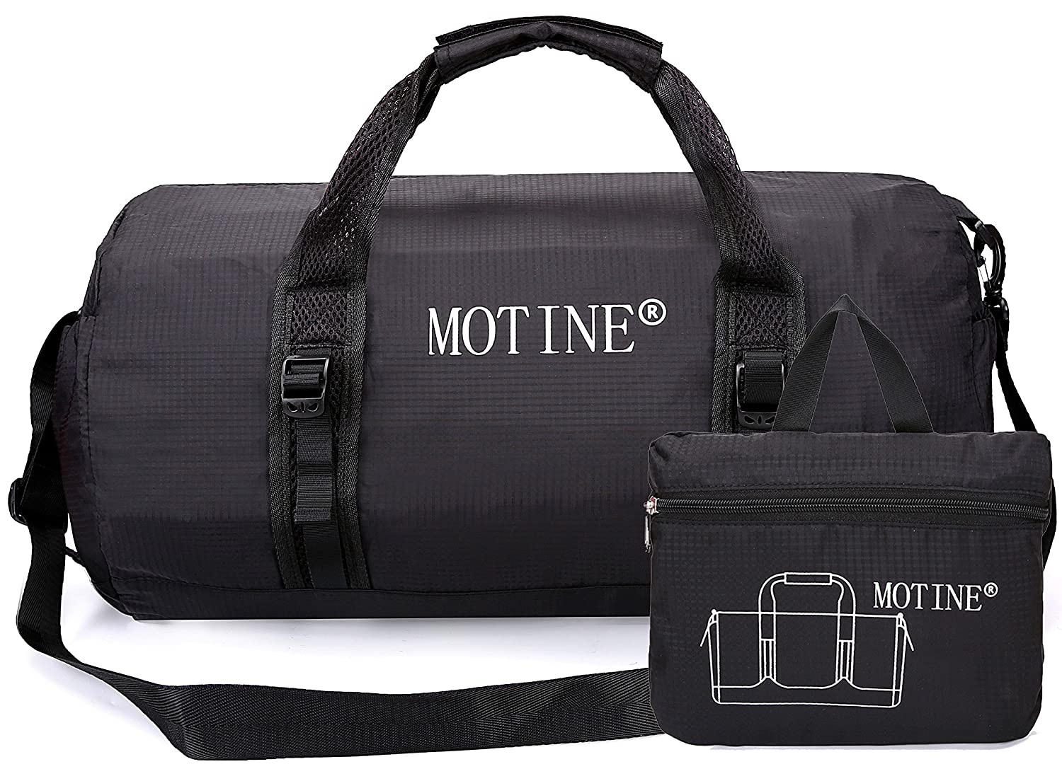 6d5f6c861 MOTINE Foldable Waterproof Travel Luggage Duffle Bag For Sports, Gym,  Vacation