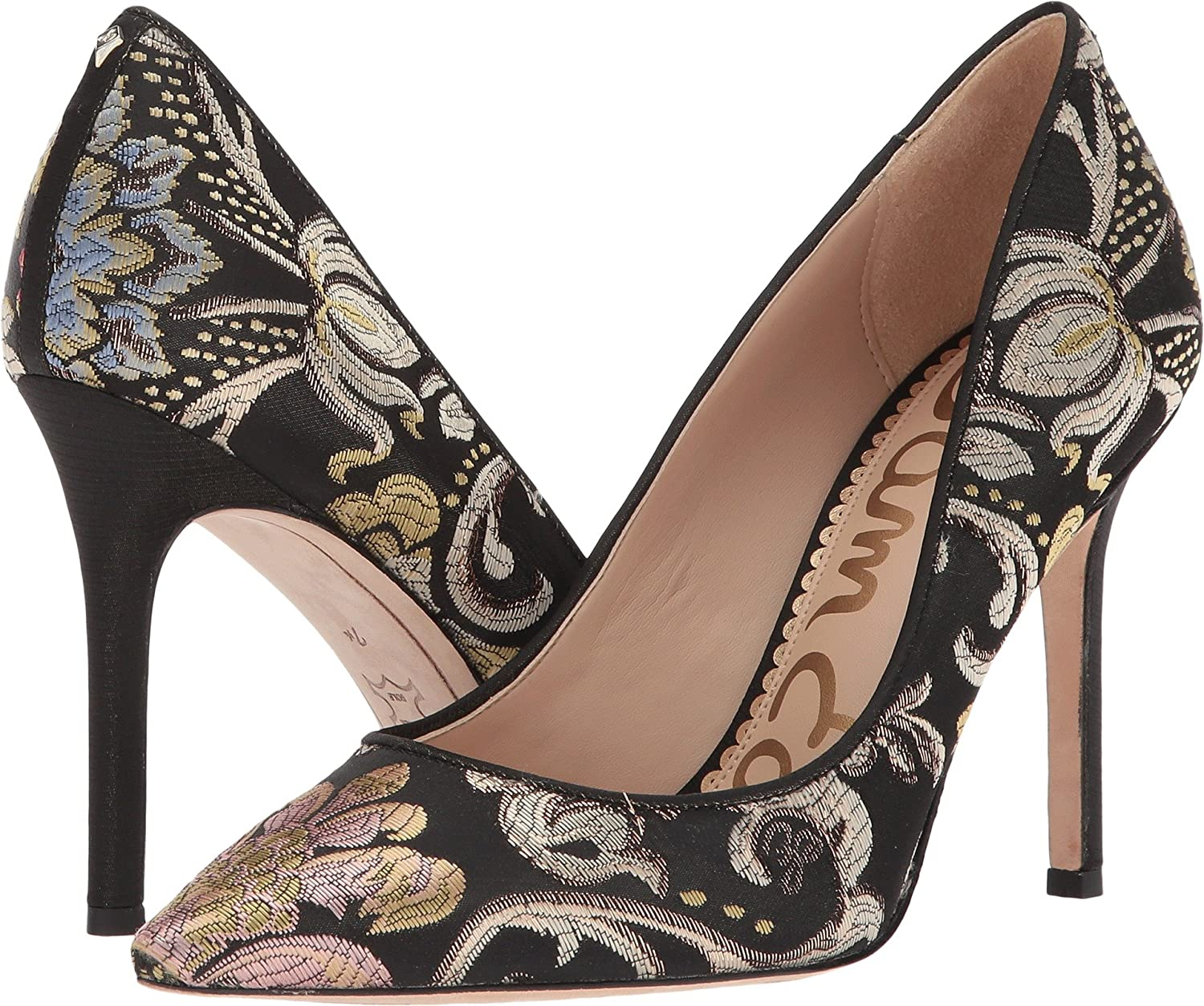 Sam Edelman Women's Hazel Dress Pump B06XJBRP21 8.5 W US|Black Multi Venezia Metallic Jacquard
