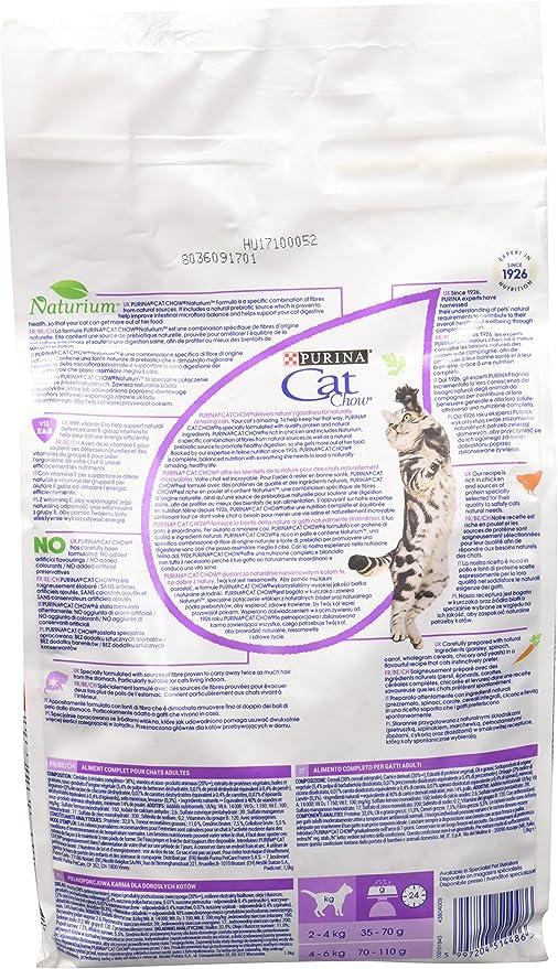 PURINA La bola de pelo Cat Chow comida para gatos seca F.Media: Amazon.es: Productos para mascotas