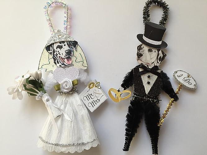 amazon com dalmatian bride groom wedding ornaments vintage style