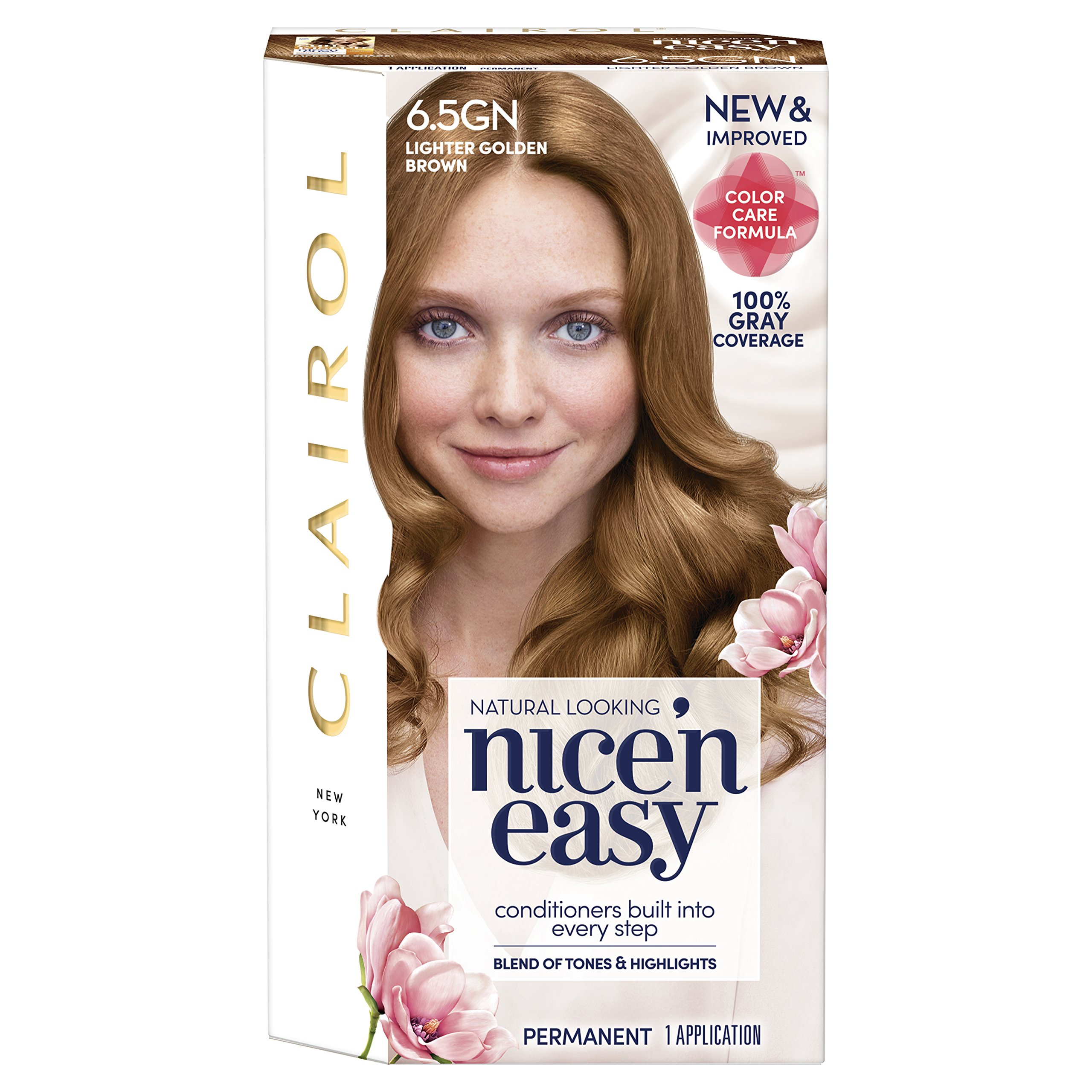 Clairol Nice N Easy 65gn Lighter Golden Brown Permanent Hair