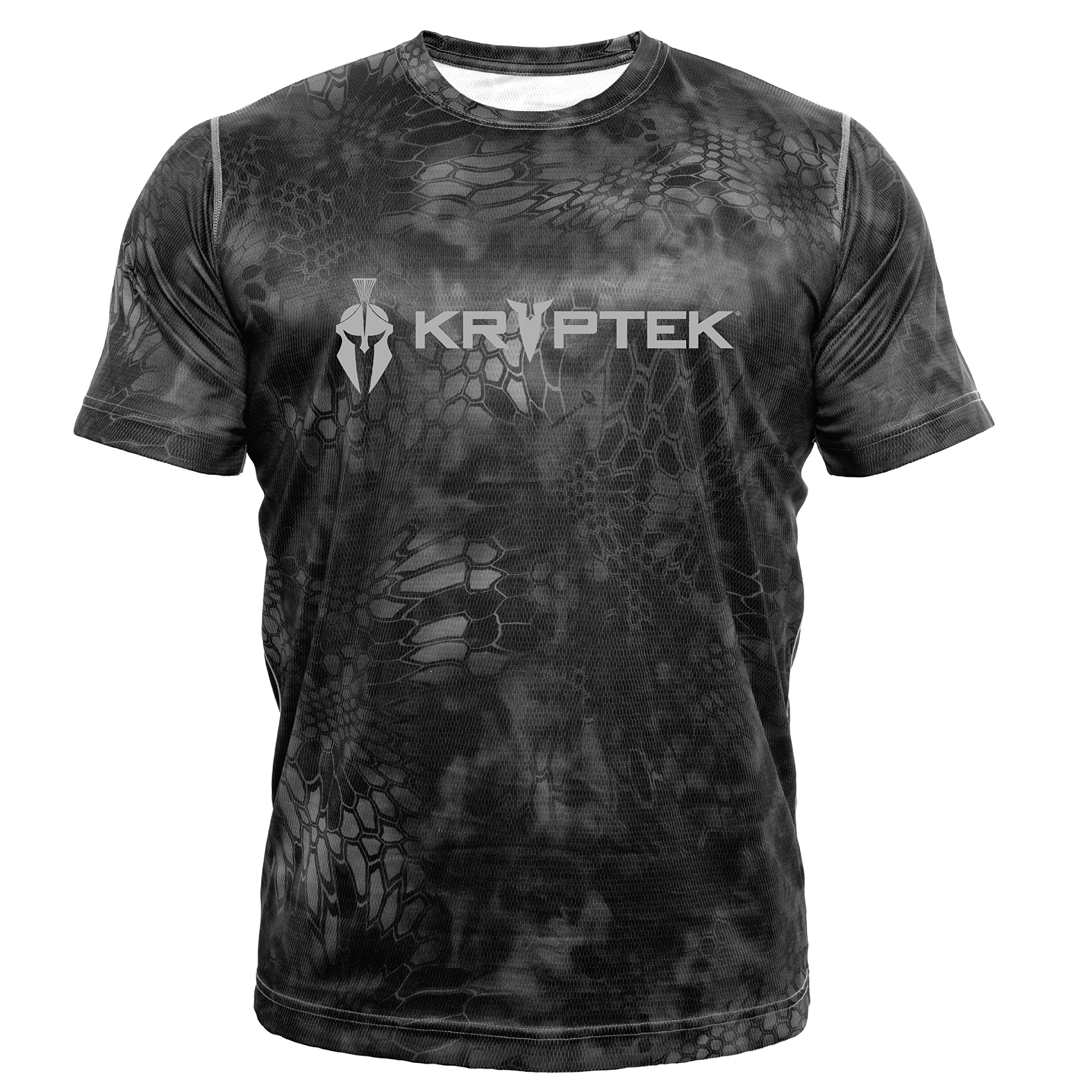 Kryptek Hyperion SS Crew with Logo - Short Sleeve Camo Hunting & Fishing Shirt (K-Ore Collection), Typhon, S by Kryptek