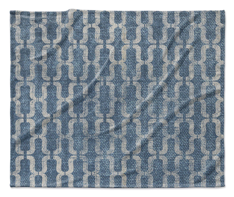 TELAVC1492VPL - ENCOMPASS Collection KAVKA Designs Como Fleece Blanket, Size: 80x60x1 - Blue