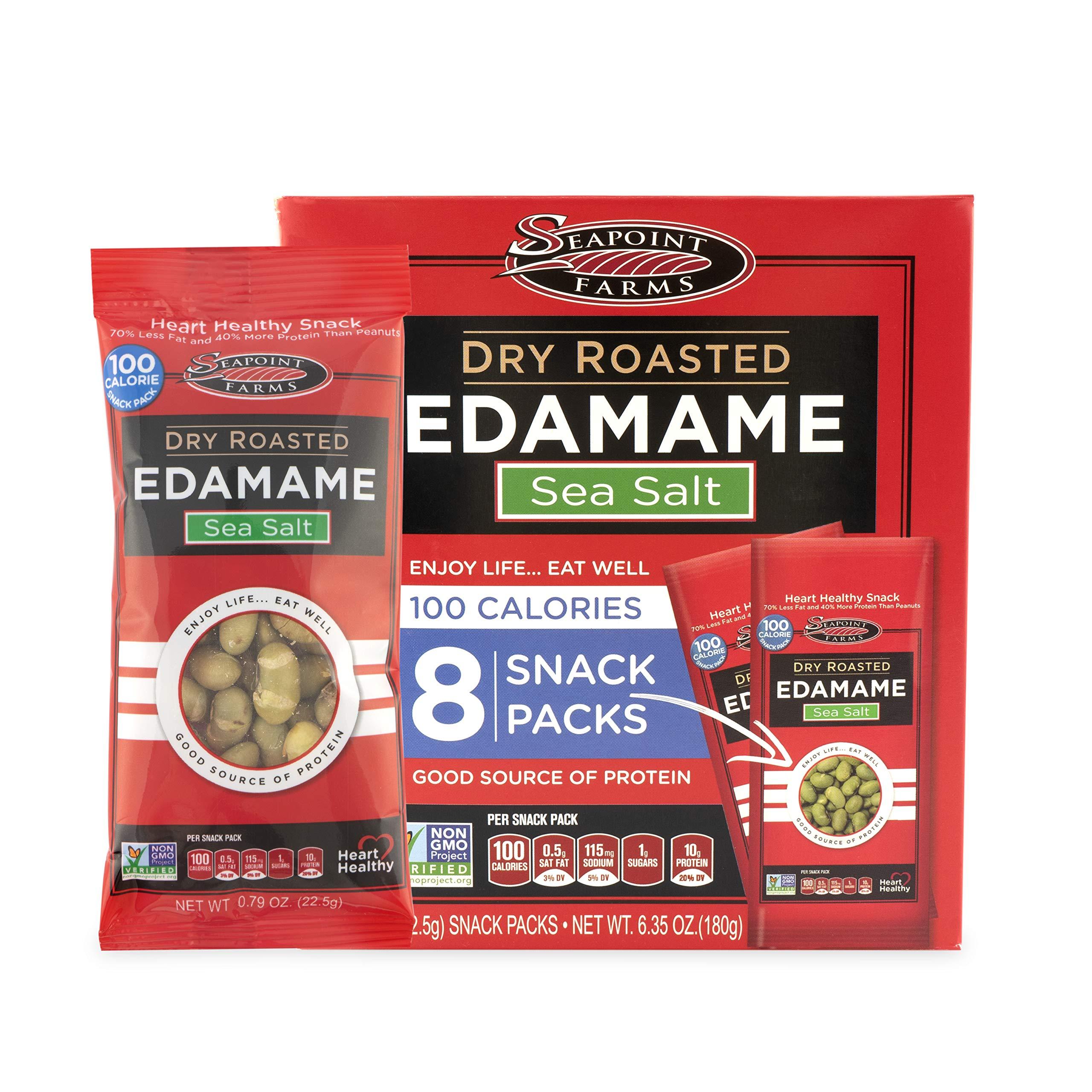 Seapoint Farms Dry Roasted Edamame, Sea Salt, 6.35 oz (Pack of 12)