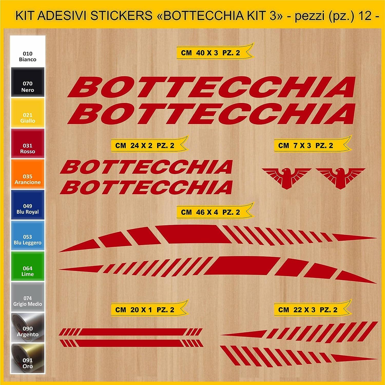 Kit Pegatinas Stickers Bicicleta BOTTECCHIA -KIT 3-12 piezas- Bike Cycle Cod. 0848 (031 ROSSO): Amazon.es: Deportes y aire libre