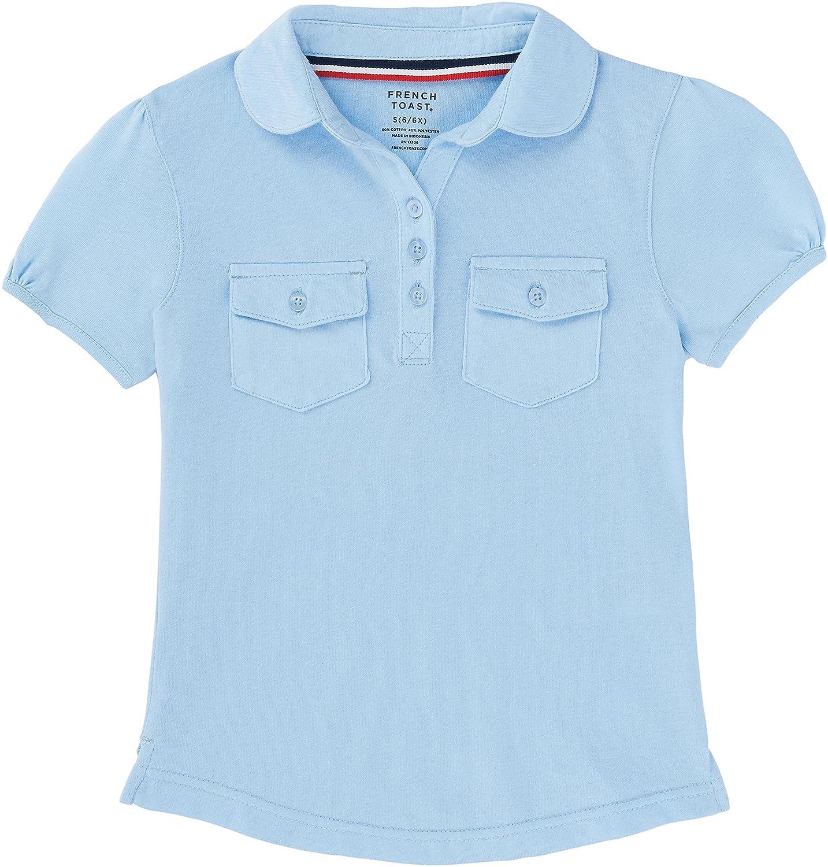 French Toast School Uniform Girls Short Sleeve Double Pocket Polo Shirt