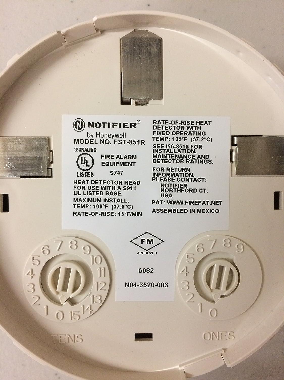Notificador fst-851r - Tasa de subida Sensor térmico 135 F: Amazon.es: Bricolaje y herramientas