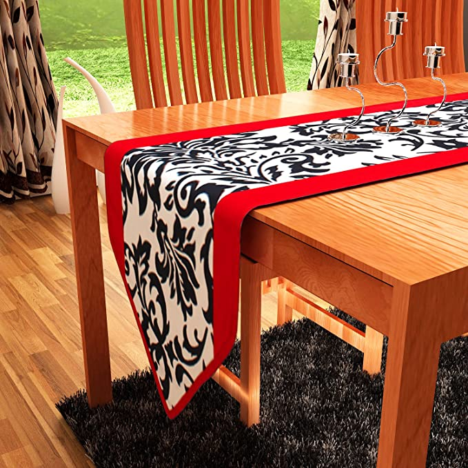 """HOME HEART TABLE RUNNER 13""""x 36"""" Carpets & Rugs at amazon"""