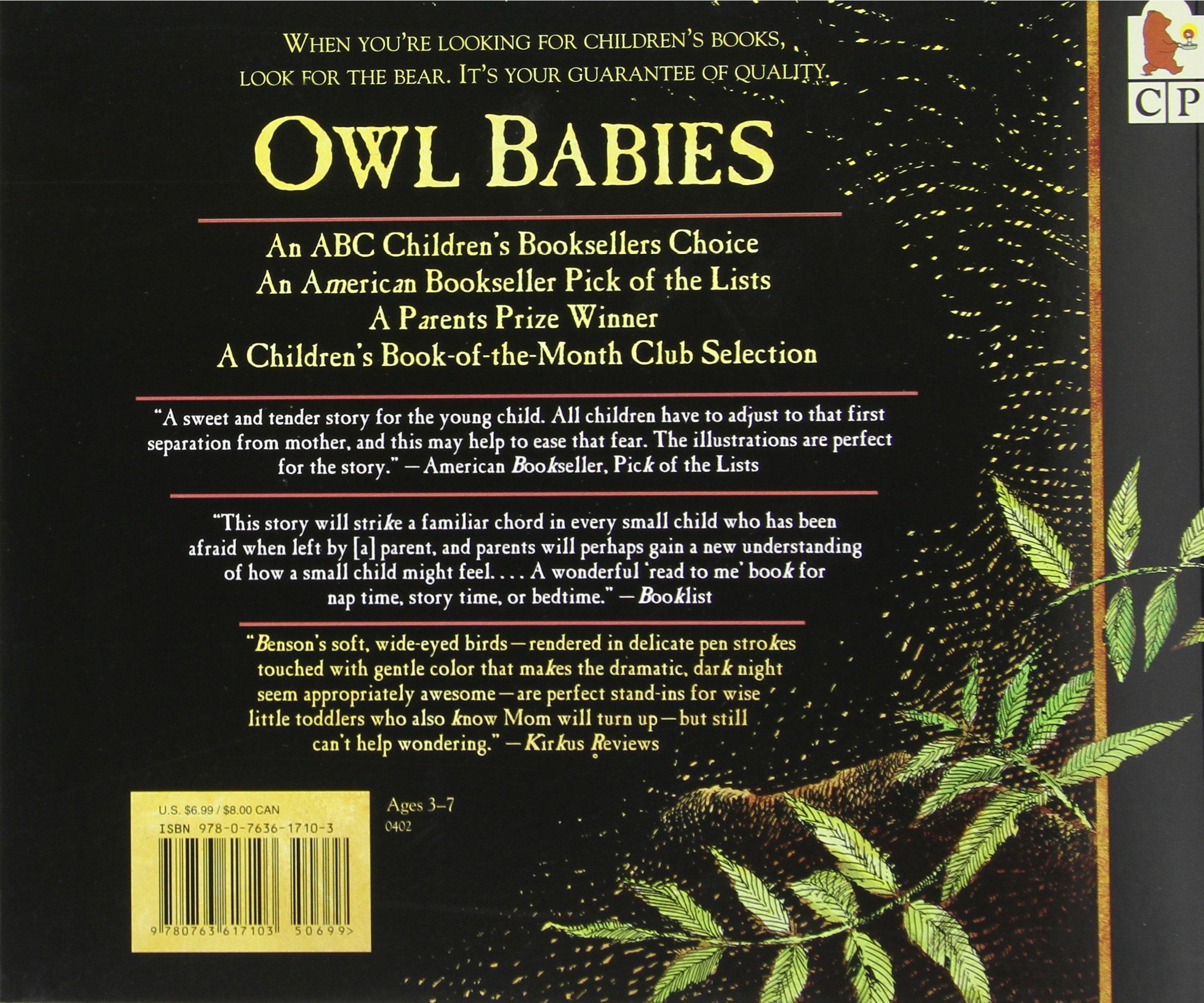 Owl Babies: Martin Waddell, Patrick Benson: 9780763617103: Amazon: Books