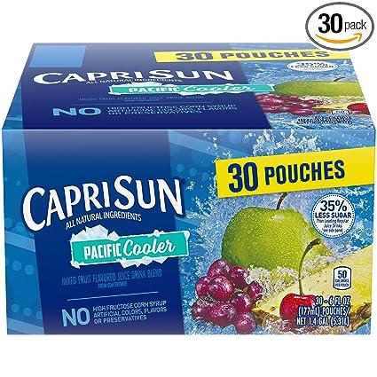 Capri Sun Pacific Bebida de zumo refrigerante, bolsas de 6 ...