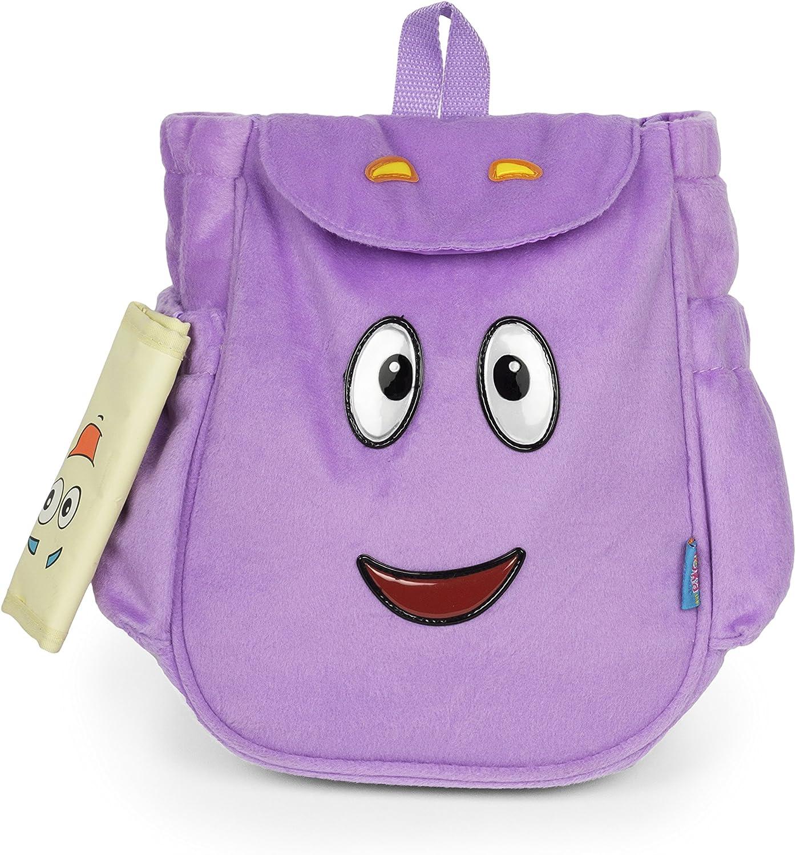 Dora the Explorer Dora Mr.Backpack Purple Plush Backpack, Purple, Size Small