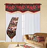 Violet Linen Decorative Christmas Tapestry Window