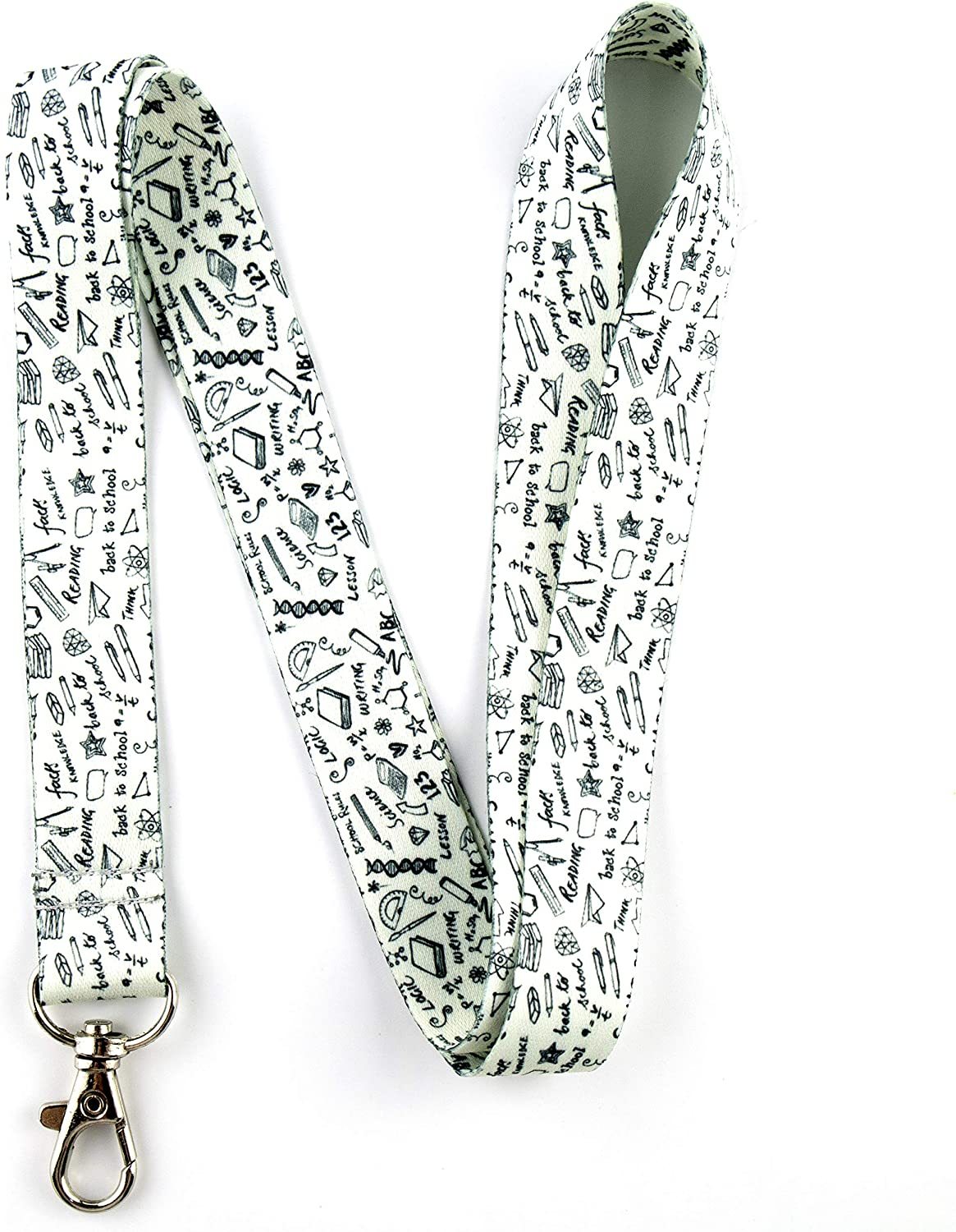 vets Perfect for nurses librarians ID card holder keychain teachers school students. Gray yellow floral 100/% cotton fabric Lanyard