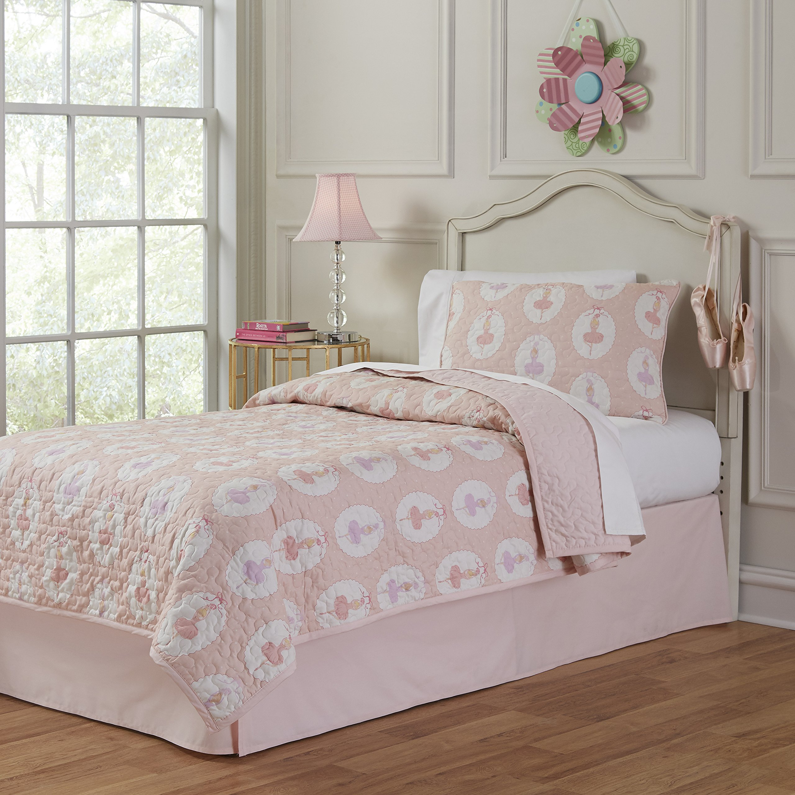 Lullaby Bedding 200QL-FQBrina Ballerina Full/Queen Cotton Printed 3 Piece Quilt Set,