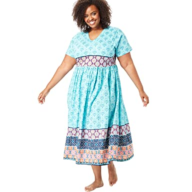 7c7a54e5f6d Only Necessities Women s Plus Size Crinkle Cotton Lounger at Amazon Women s  Clothing store