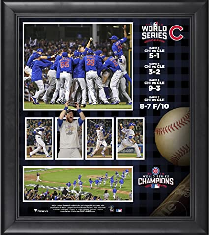 5c1f72ced Chicago Cubs 2016 MLB World Series Champions Framed 15