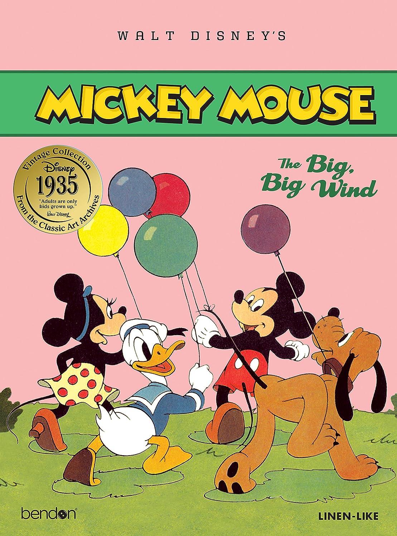The Big Big Wind 9 x 12 9 x 12 Mickey Mouse Bendon 43777 Disney Vintage Linen Storybook