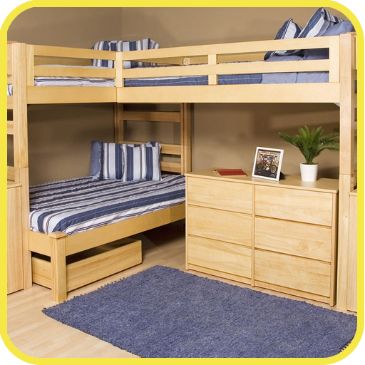 wood bunk bed with futon - 4