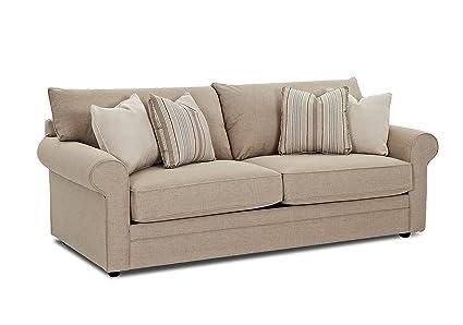High Quality Klaussner Comfy Sofa, Hemp