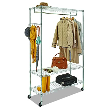 Alera GR364818SR Wire Shelving Garment Rack, Coat Rack, Stand Alone Rack  W/Casters