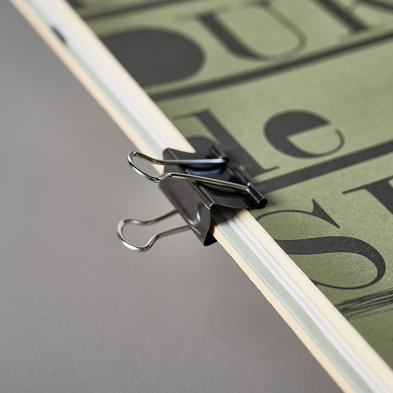 Graffette da 15 mm colore: Nero Officekultur 60 pezzi
